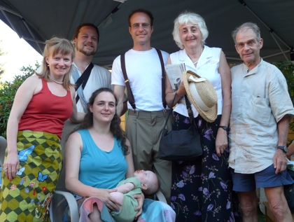 From right to left </br> Mike, Ginny, Eli, Leah, Frank, Noelle